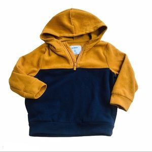 Old Navy Mustard and blue Toddler Boy Hoodie 3T
